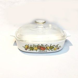 Vintage Corning ware Spice Of Life Pot With Lid